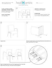 Aloe Ganging Chair – Assembly Instructions