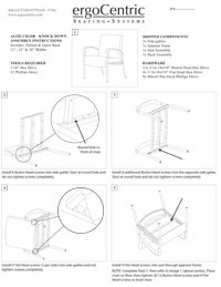 Aloe Ganging Chair – Knock Down Assembly Instruction