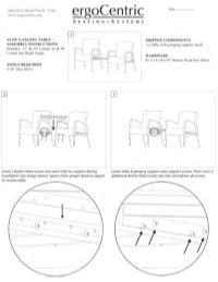 Aloe Ganging Table – Assembly Instructions