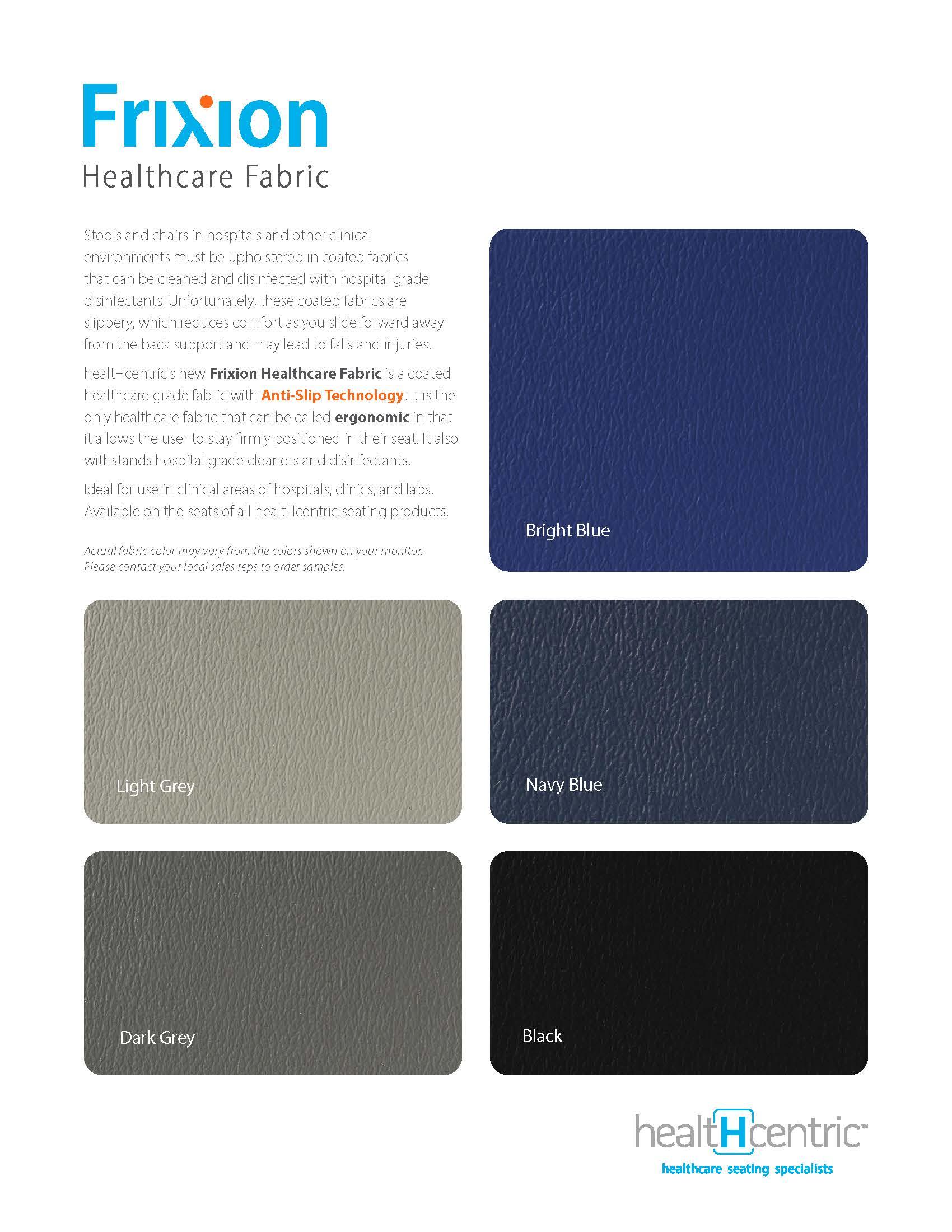 Frixion Healthcare Fabric Grade 6