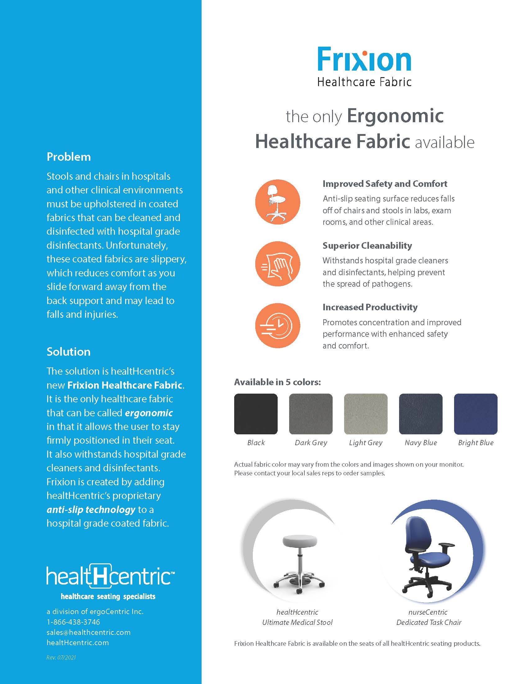 Frixion Healthcare Fabric